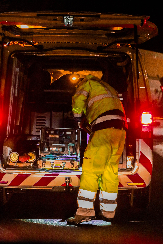 ATB-Begleitung beim Transport der ColdBox nach Muttenz