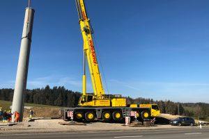 Mastenmontage Kirchberg/SG