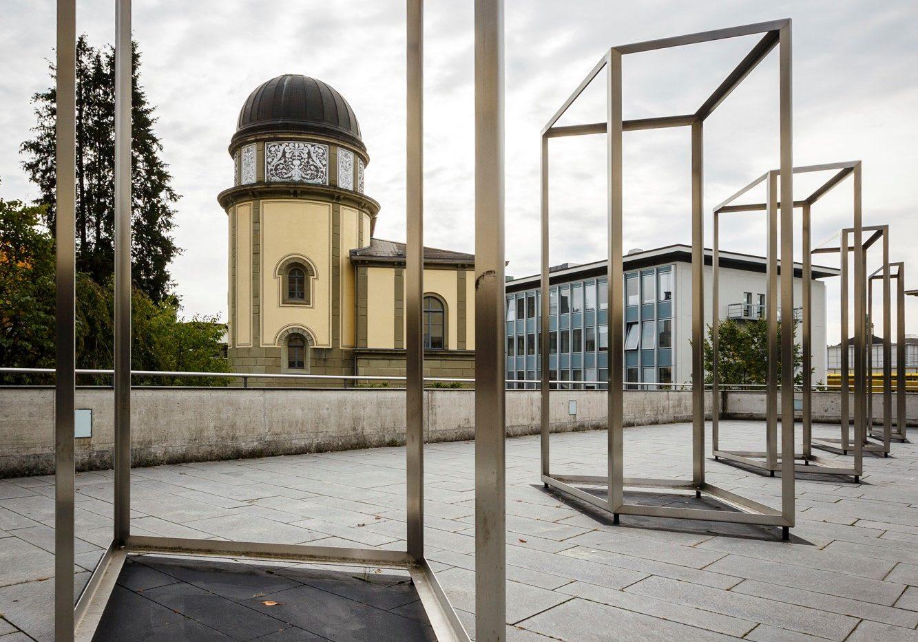 Architektur; Terrasse NORD1; Kunst am Bau; Raummaht - Nahtraum; Florian Granwehr (Künstler); ETH-Sternwarte